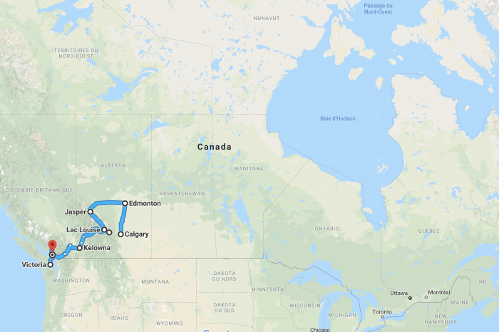Itineraries in Canada