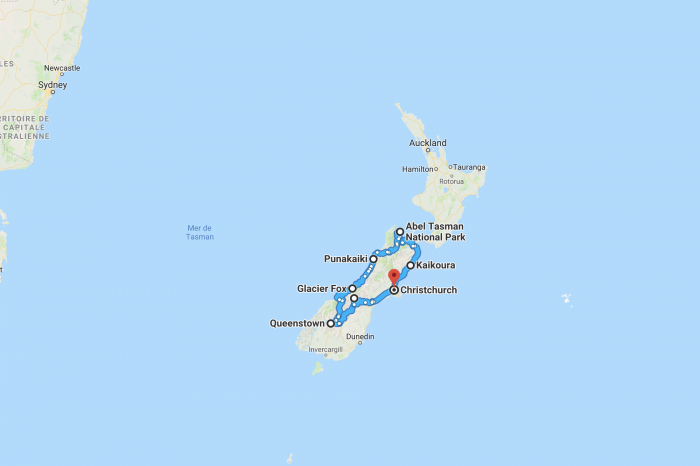 Itineraries in New-Zealand