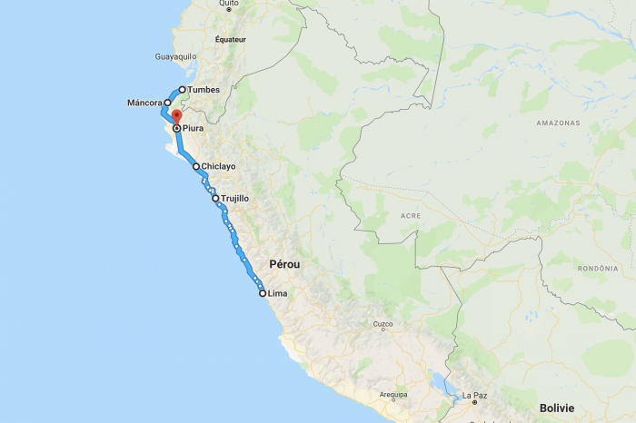 1 week along the ocean in Northern Peru