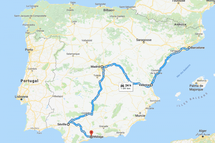 Itineraries in Spain