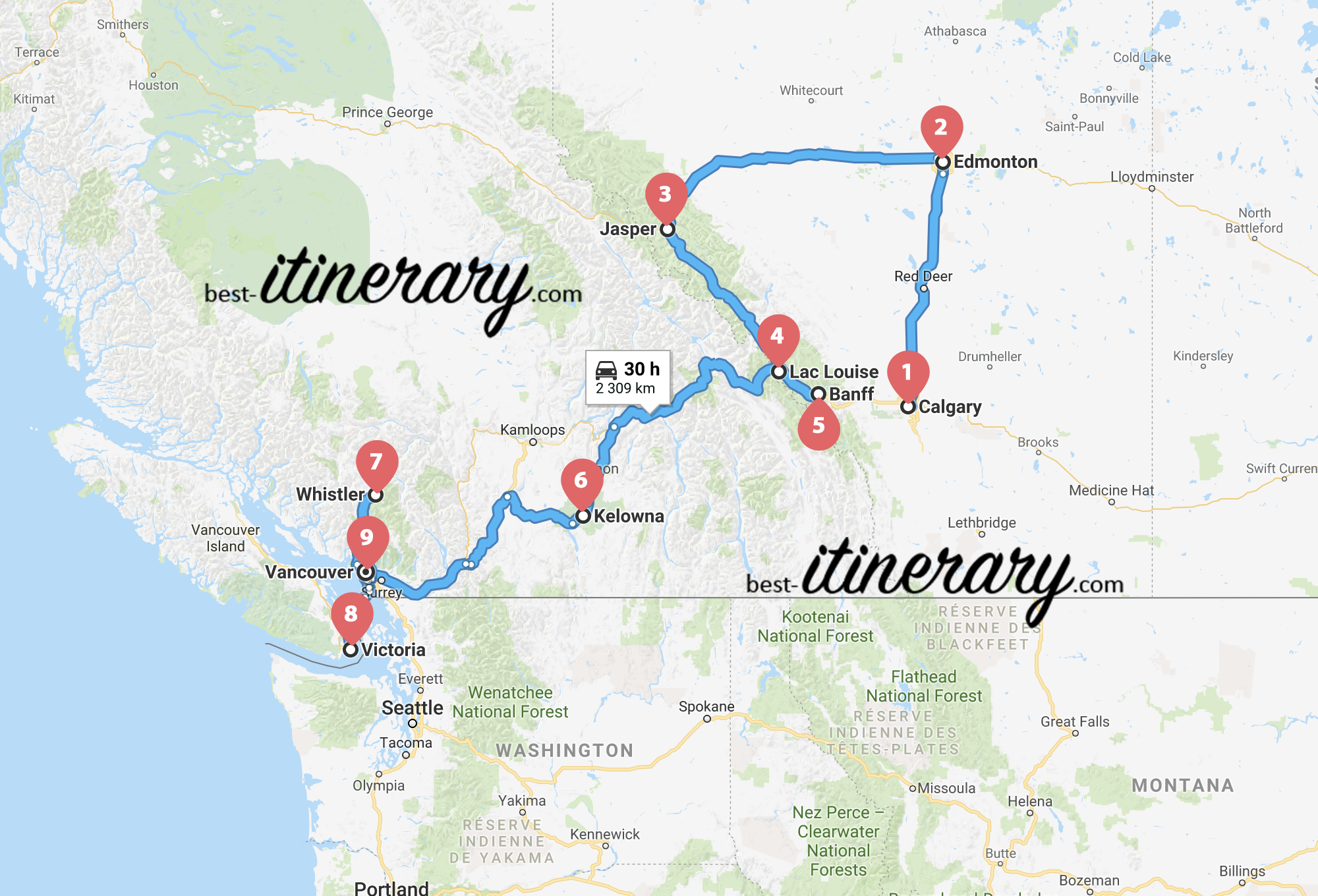 Carte West Canada.2 Weeks In Western Canada Best Itinerary