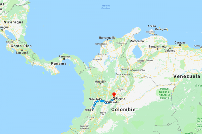 Itineraries in Colombia