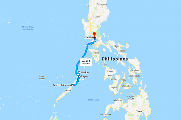 1 week in Manilla and Palawan Island in the Philippines