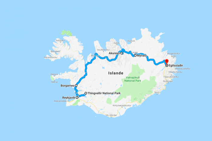Itineraries in Iceland