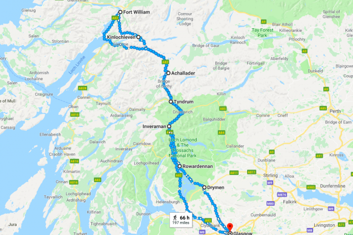 Itineraries in Scotland