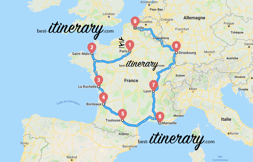 france-itineraire-voyage-2-carte