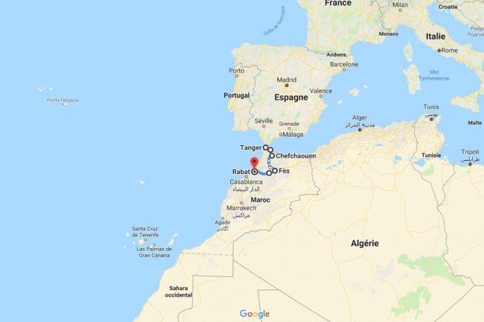 Itinéraire de 2 semaines dans le nord du Maroc