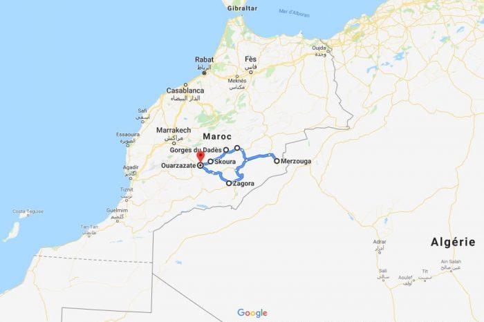 Itinéraire de 2 semaines dans le sud du Maroc