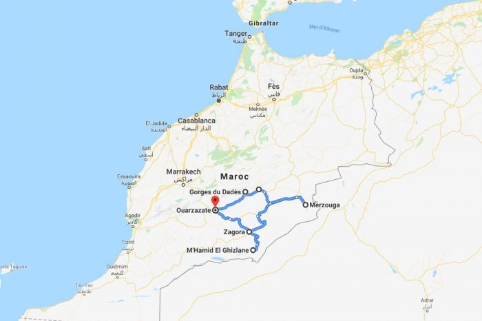 2 weeks itinerary in southern Morocco
