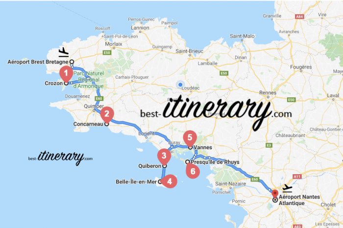 Visiter la Bretagne du sud en 1 semaine